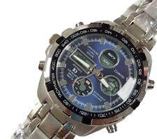 Orologio Da Polso CS B-205 Uomo Analogico Digitale Cronografo Quarzo Blu lac