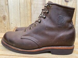 "Chippewa ELLISON Men's 6"" Rugged Handcrafted Plain Toe Katahdin Boot Sz 9 D"