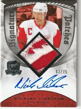 LIDSTROM 2008-09 UD Upper Deck The Cup Signature Patches /75