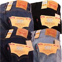 Levi's Jeans 501 Original Standard Straight Leg Trouser Jean Pant All Sizes New