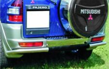 MITSUBISHI PAJERO 2000 -V60- TUBI POST. 2 PORTE 60 INOX LUCIDATI A SPECCHIO