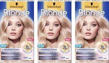 3x Schwarzkopf Blonde 10.19 Rosiges Pastell Eiskristall-Blonde