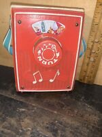 Vintage Fisher Price Music Box Pocket Radio 1967 Sing a Song of sixpence #775