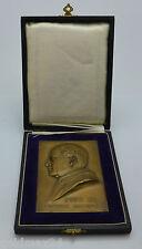 Papst Pius XI - Messing-Tafel / mit Original Schatulle