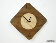 Wooden Simply Rhombus - Wood Wall Clock