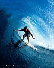 Surf: Riding el tubo-Mini Póster de 40cm X 50cm (nuevo Y Sellado)
