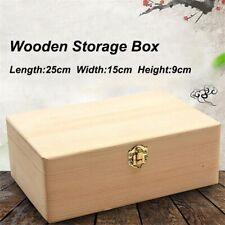 Wooden Storage Box Scotch Pine Rectangular Gift Box Handmade Craft Jewelry Case