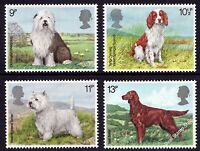 GB 1979 Dogs Complete Set SG1075-1078 Unmounted Mint