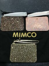 MIMCO Glitz Small Strap Pouches-Shell Pink , Multicolour & Gold $94.95