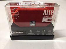 Altec Lansing IMW257-DR-WM Mini H2O Bluetooth Wireless Speaker Red NEW