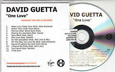 DAVID GUETTA One Love 2009 UK 12-track watermarked & numbered promo test CD