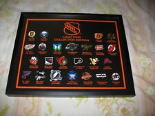 Framed NHL Logo Pins Collector Edition 24 Teams Official Licensed Product
