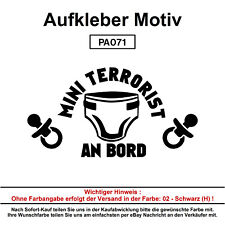 MINI TERRORIST - Autoaufkleber Aufkleber Fun Spaß Sticker Lustige Sprüche
