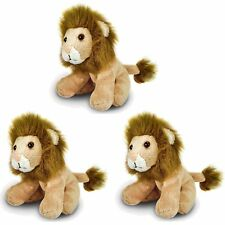 3 x 13cm Lion Soft Toy - Gift Idea - Filler - Gift - Classroom
