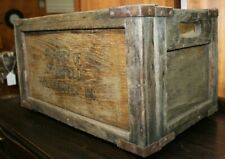 Antique Folding Collapsible Wooden Public Market Crate Springfield, MA