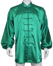 Kung fu Tai chi Jacket Martial arts Wing Chun Top Wushu Coat Silk Satin