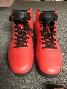 Red Fila High Tops Leather Mens Size 15