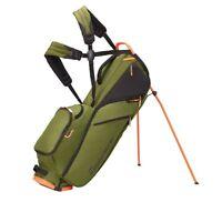 TaylorMade Flextech Lite Stand Golf Bag - New 2021 - Army/Orange