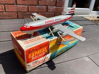 Louis Marx Toys Battery Operated Express Airlines In Its Original Box - Rare