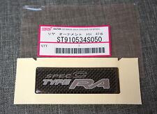 Subaru STi Spec C Type RA Rear Trunk Badge / Sticker / Emblem JDM Carbon Fiber
