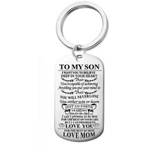 To My Son Love Mum Dog Tag Pendant Key ring