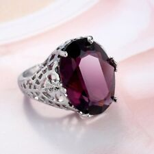 Lovely NEW 9.5 Carat Genuine Oval Amethyst Ring~Sterling Silver~Sz 7~W/Gift Bag