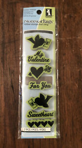 Inkadinkado Folk Valentine Cling Stamp Valentine's Day Card Sayings Sweetheart