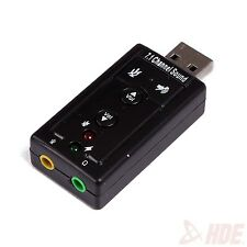 7.1 Channel USB Sound Card 3d Virtual Audio Adapter External Laptop Device PC