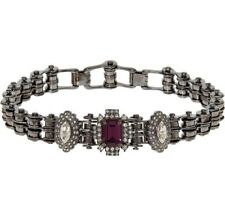 MAWI LONDON Double Link Bike Chain Choker with Crystal Clusters - £689