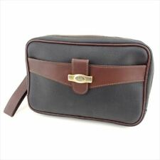 Dunhill Clutch bag Black Brown PVC leather Mens Authentic Used G1300