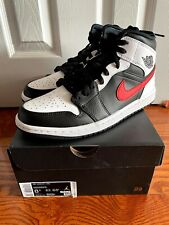 Nike Air Jordan 1 Mid Chile Red Size 8.5 554724-075 NEW Shadow Black White