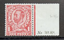 More details for gb 1912 gv 1d scarlet, right hand marginal single, no watermark - scarce mint.