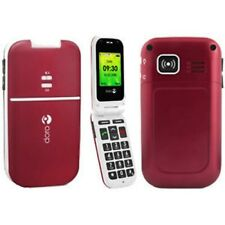 RED BIG BUTTONS ELDERS CELL PHONE UNLOCKED FIDO ROGERS DORO PHONEEASY 410 GSM