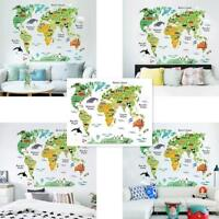 Animal Educational World Map Wall Sticker Decal For Kids Baby Room Decorjg PIL