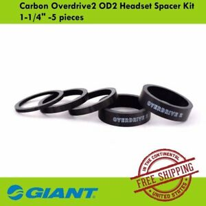 """Giant Carbon Overdrive2 OD2 Bike Bicycle Headset Spacer Kit 1-1/4"""" -5 pieces"""