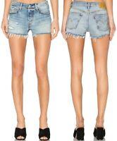 Levi's Damen Jeansshorts 501 Blau Vintage - Destroyed W32