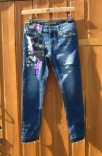 "Girls Vigoss Jeans Blue Denim Super Stretch Jeans Size 12 Age 26"" Waist BNWTs"
