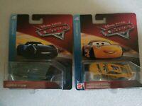 NIP Mattel Disney Cars Lot of (2) Florida 500 Dinoco Cruz Ramirez/Jackson Storm