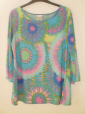 ❤️ Gorgeous Multicoloured Funky Hippie Boho Tunic Top size M ❤️