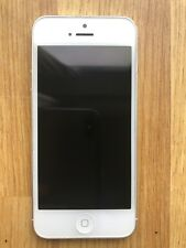 Apple iPhone 5 - 16GB - White & Silver (Unlocked) - GREAT CONDITION (with case)