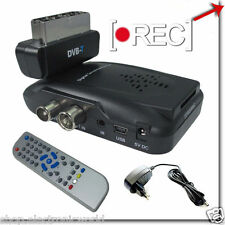 DIGITALE TERRESTRE DVB-T SCART USB SD MMC DECODER VIDEO CON REGISTRAZIONE TV