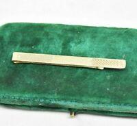 Vintage 9ct gold tie clip / tie slide Art Deco Peaky Blinders 2.62g #Y457