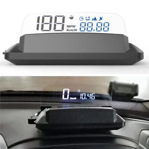 Car GPS HD Digital Speedometer HUD Head Up Display Overspeed MPH/KMH Tired Alarm