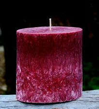 90hr FRANKINCENSE & ROSES Triple Scented Exotic Florals OVAL PILLAR CANDLE