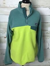 Patagonia Women's Synchilla Snap- T Fleece Pullover Green Color Size L Large