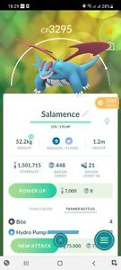 Pokémon Go Salamence Same Day Trade for 20K Stardust Instant Trade