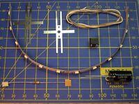Kit 12 LED/20 cm à câbler 12V éclairage wagon - lamelle universelle - HO JOUEF