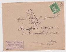 N°51 oblitéré lettre  Orléans pour  BEAUFORT CV : 20€