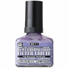 VOLKS WC11 Creos Mr. Weathering Color Filter Liquid Layer Violet 40ml Hobby Toy