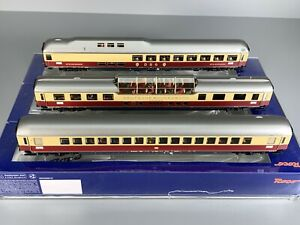 H0 - ROCO DC--64109..Rheingold Wagen-Set..LED + Figuren...OVP    // 5 DD 264